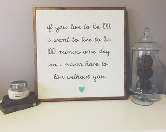 If you live to be 100 winnie the pooh quote sign