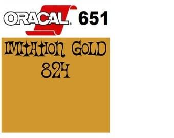 Oracal 651 Vinyl Imitation Gold (824) Adhesive Vinyl - Craft Vinyl - Outdoor Vinyl - Vinyl Sheets - Oracle 651