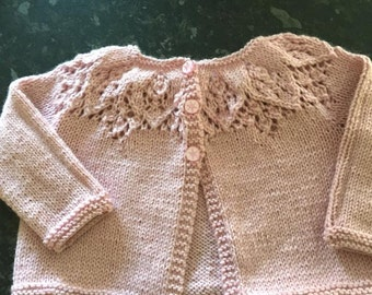 Gorgeous 4 ply Handknitted Cardigan