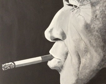 Keith Richards-acrylic painting on canvas