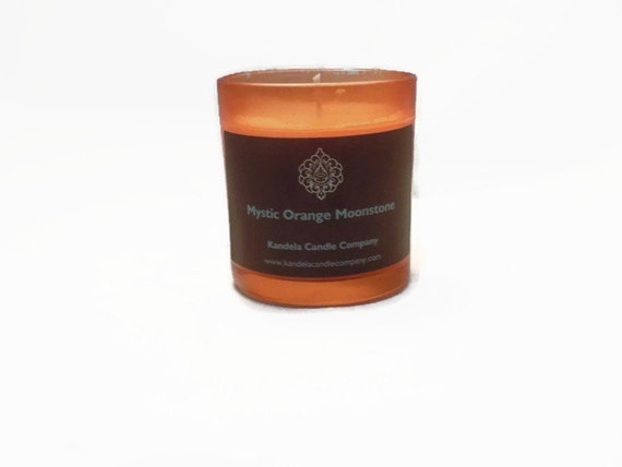 Mystic Orange Moonstone Scented Candle in 7 oz straight tumbler