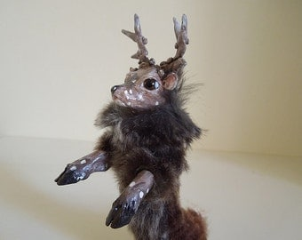 Antoin - Poseable deer ooak doll