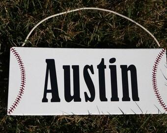 Baseball Sign, Baseball Plaque, Baseball Name Sign, Baseball Name Plaque, Sports Sign, Personalized Sign