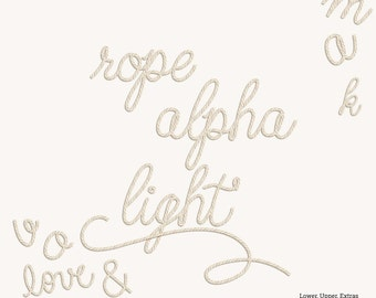 NEW- Light Rope Alpha- Digital Scrapbooking Paper- Uppercase, Lowercase, Numbers, Extras