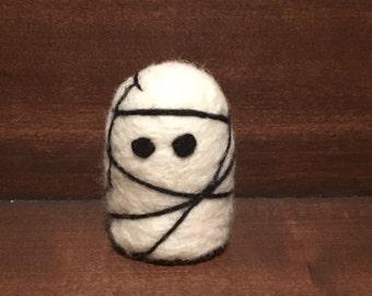 Wool Needle Felted Ghost Halloween