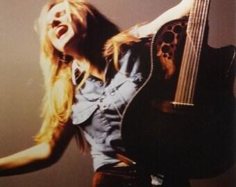 Melissa Etheridge 23x35 Close Up W/ Guitar Music Poster 1995
