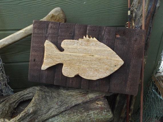 Wood Fish Rustic Fish Decor Lake Art Fish Wall Decor Cabin