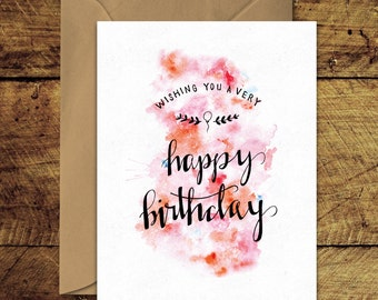 Happy Birthday - Greeting Card with Envelope