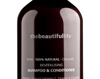 The Beautiful Life - 2 in 1 Shampoo/Conditioner - Organic Vitamin E, Orange & Coconut 500 ml