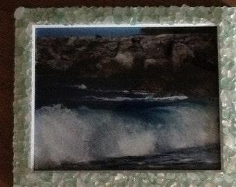 8x10 Sea glass frame