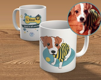 Cup custom from photo - mascot
