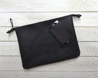 Leather clutch bag, leather clutch purse, leather wallet, women purse