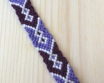 Purple & White Friendship Bracelet