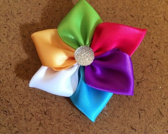 Multi Colored Flower Barrette