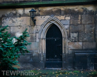 Old Door  at a church in Prina, Germany.
