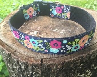 Model Material Dog Collar - Floral Dog Collar - Wide Dog Collar