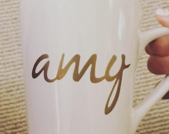 Coffee Mug- Personalized Mug- Custom Mug- Name Mug- Different Fonts Available