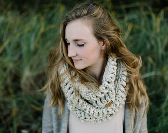 CHARCOAL - THE CASCADIA Cowl / Infinity Scarf