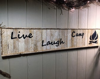 Rustic Camp, Live Laugh Camp, Wall Decor