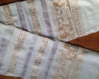Silk Shawl with Gold Thread