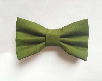BOW TIE Dark Green, baby boy, baby bow tie, newborn photo prop, baby gift, boy toddler, bow tie