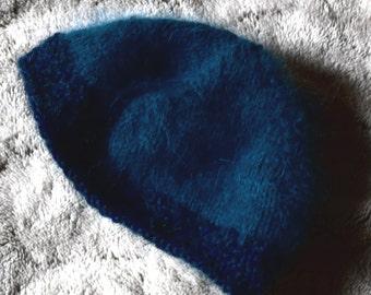 Bonnet baby, birth size, blue night blue edges