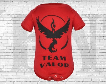 Pokemon GO, Team Valor Gamer Baby Bodysuit