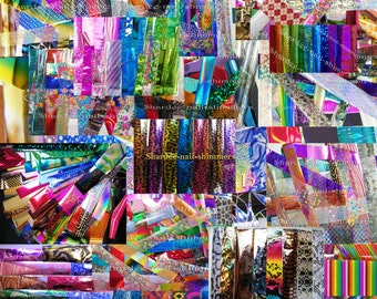 Colossal pack 150 nail art transfer foils x 20 cm each (chosen at random but no 2 the same)
