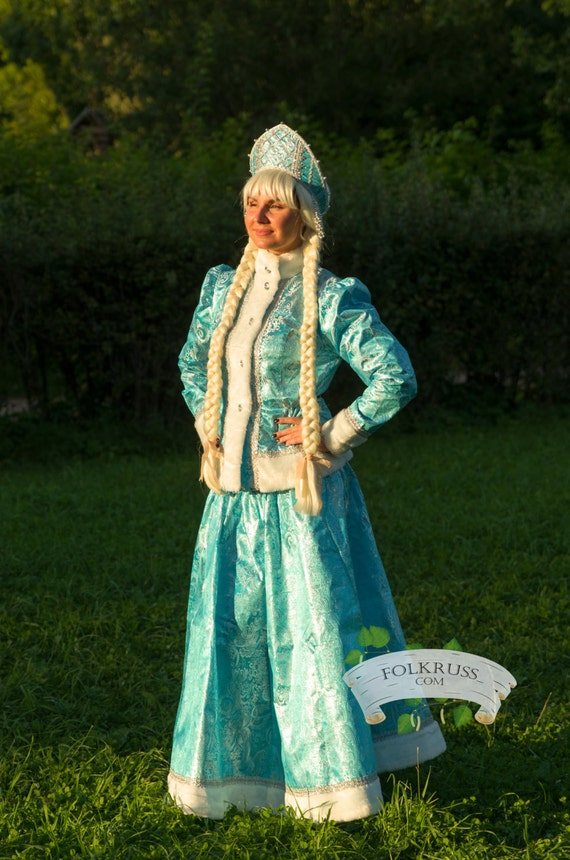 Snow Maiden Costume, Snegurochka, Winter dress, Christmas costume, New year costume