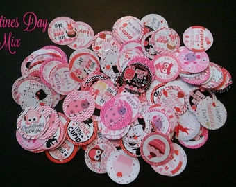 Valentines Day Precut Bottle Cap Images