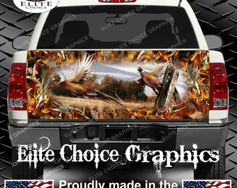 Ringneck Pheasant Obliteration Buck Blaze Truck Tailgate Wrap Vinyl Graphic Decal Sticker Wrap