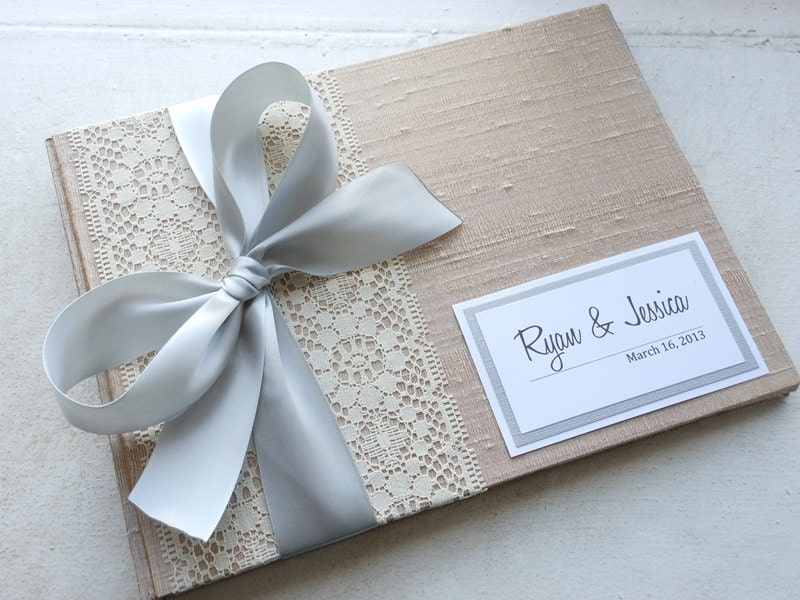 Diy Guest Book Cover : Stunning champagne and silver guest book by blueelephantbooks