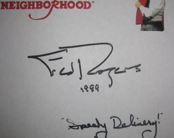 Mister Rogers' Neighborhood Signed TV Script Screenplay Autograph Fred Rogers David Newell Mister McFeely Classic Kids TV PBS Show