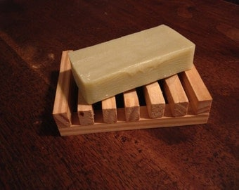 Cedar infused sheep milk soap