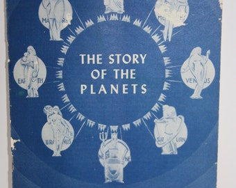 The Story of the Planets pamphlet, Adler Planetarium, Vintage science literature, planetarium, planets, science book
