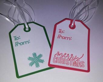 Holiday - Christmas - Gift Tags - Set of 12