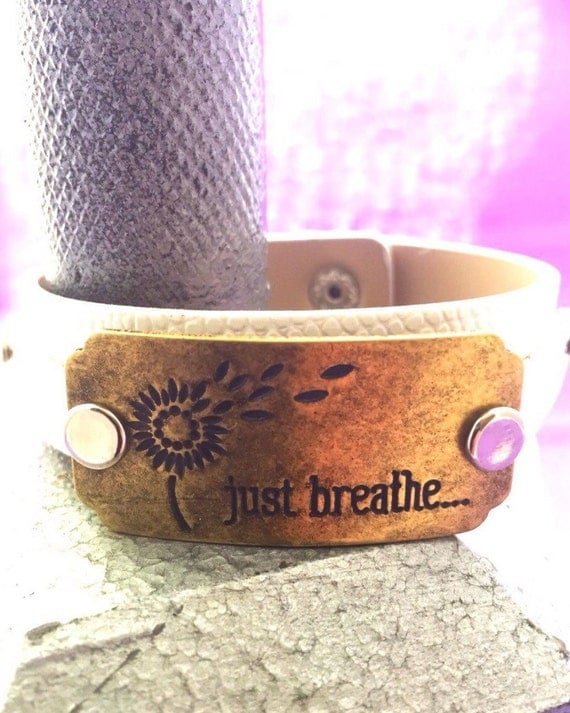 Crossfit Jewelry, Women's Leather Cuff Fitness Gifts, Just Breathe Bodybuilding Jewelry, Inspirational Word Charms, Mother's Day Wife Gifts