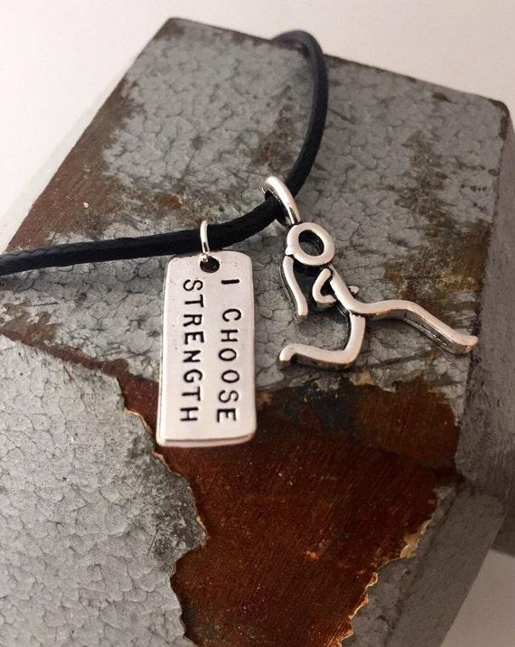 Running Jewelry- Running Charm Necklace - Mother's Day Necklace - Silver Running Necklace - Running Gift - Running Motivation
