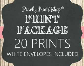 PRINT PACKAGE - 20 Invitations - White Envelopes Included