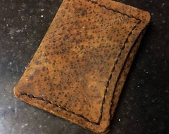 Hand Stitched Leather slim no fold Wallet