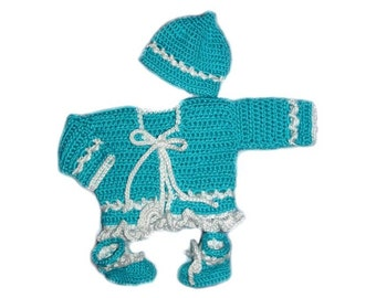 Boys Ocean Blue Sweater Set
