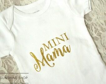 Mini Mama Baby Onesie - BodySuit - Unisex - Short-Sleeve - Newborn to 24 Months