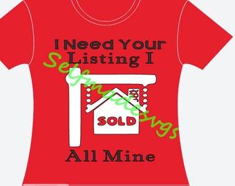 real estate agent shirt design svg