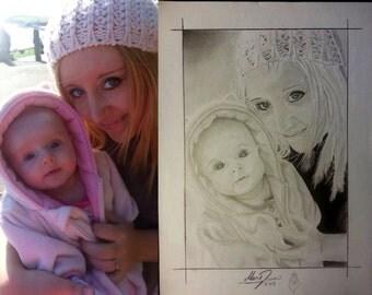 Hand Drawn Family Portraits