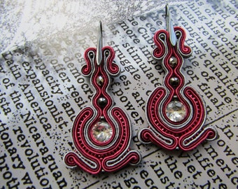 Large soutache earrings