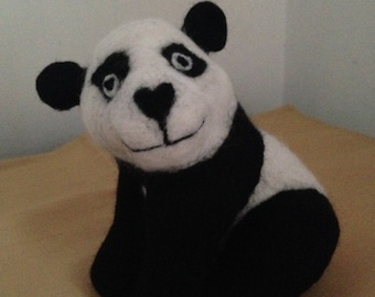 Needle Felted Panda - Made to Order
