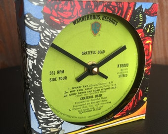 Grateful Dead - Clock made from vinyl record