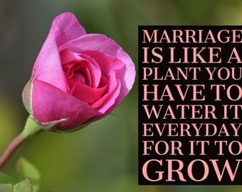 Marriage quote and photo