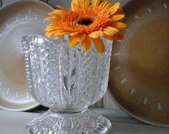 Vintage glass vase~vintage cut glass vase~Avon vase~Vintage avon votive holder~vintage glass~Avon glass~vintage candle holder~vintage vase~