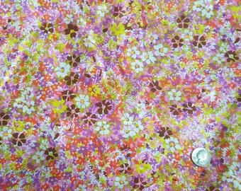 4 yards vintage light weight floral fabric